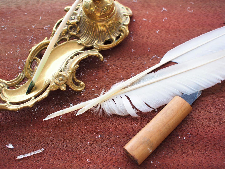 羽根ペンを自作する
